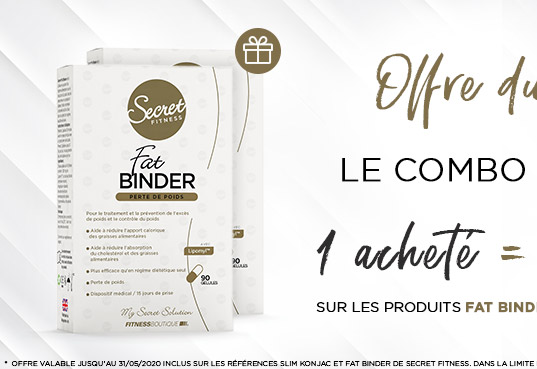 Promo du Mois : Fat Binder 1 acheté = 1 offert Secret Fitness