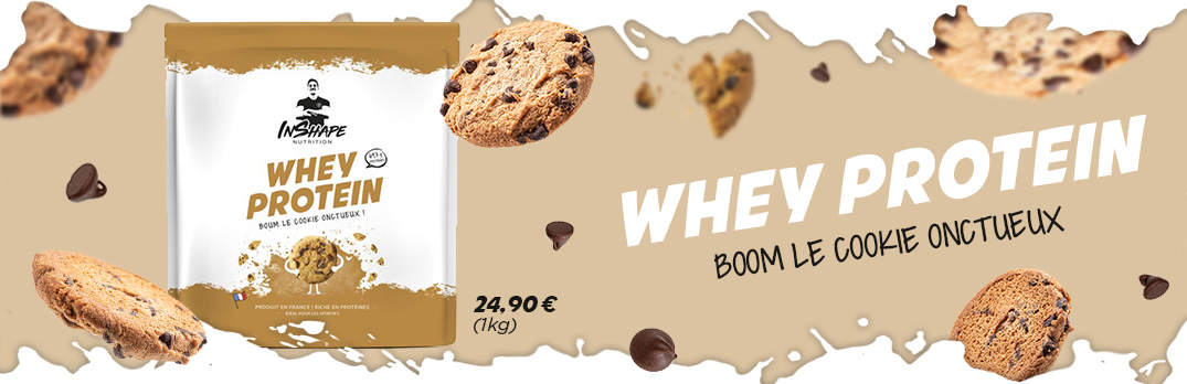 Whey protein cookie onctueux