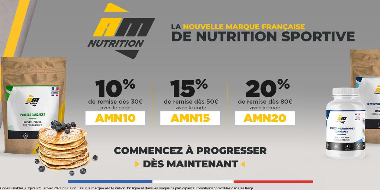 https://ahead.fitnessboutique.fr/Nouvelle marque AM Nutrition Jusqu'à 20% de remise