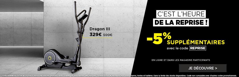 Vélo Elliptique Dragon III FITNESS DOCTOR